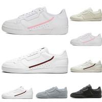 En kaliteli Calabasas Powerphase Gri Continental 80 Rahat ayakkabılar pembe mavi Çekirdek siyah OG beyaz kadın mensTrainer Spor Sneakers 36-45