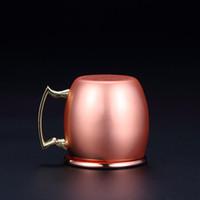 2 Unzen Kupfer-Becher Edelstahl-Wein-Bier-Schale Moscow Mule-Becher Rose Gold Cocktail Weingläser Hammered Kupfer überzogen Trinkgefäße DBC DH1256