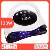 LED de 120W prego secador 45pcs lâmpada UV cabeças de sensor automático de comando do temporizador Função curar todos Gel prego seco Luz