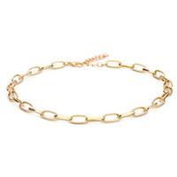 Maxi Чокеры мода металлических кнопок ключицы цепь коротких блестящие женщины ожерелье ювелирных изделий ожерелья хип-хоп ювелирные изделия 2020 горячей продажа