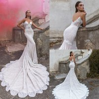 Sexy Spagetti Straps Wedding Dresses with Lace Appliques Vin...