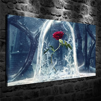 The Beast Rose، HD Canvas Printing New Home Art فن الرسم / غير المؤطرة / مؤطر
