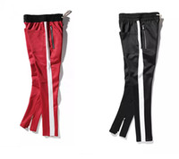 Women Casual Straight Striped Pants Hip Hop Patchwork Zipper...
