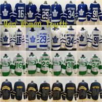 Cucita Toronto Maple Leafs 34 Auston Matthews 31 Frederik Andersen Jersey 29 William Nylander 44 Morgan Rielly John Tavares Hockey Su Ghiaccio