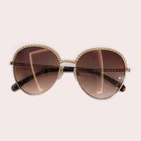 Nuevo diseñador Único Cadena gafas de sol 2019 Personalidad de lujo Guapo elegante Mujeres Hombres Gafas de sol Oculos De Grau