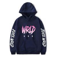 Suéter Americano Y de E-BAIHUI mujeres de los hombres cantante de hip-hop jugo WRLD Impreso Moda suelta con capucha 2020 de Calle Nueva