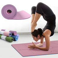Hot Sale 183*61cm TPE Non- Slip Position Line Fitness Yoga Ma...