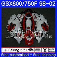 Lichaam voor Suzuki Katana GSXF 600 750 GSXF750 98 99 00 01 02 292HM.17 GSX 750F 600F Lucky Strike Hot GSXF600 1998 1999 2000 2001 2002 Kuip