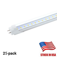 Stock en EE. UU. + Bi-pin Tubos LED de 4 pies t8 Luz 28W Filas dobles color blanco frío T8 Reemplace el tubo normal AC 110-240V UL FCC