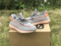 722fc857fdcae 2019 Auténtico 350 V2 Forma verdadera EG749 Kanye West Athletic Shoes para  hombres Mujeres Clay EG7490