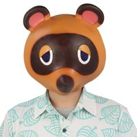 Animal Crossing Tom Nook Masque Cosplay mignon Pantera Masques latex Casque Halloween Party Carnival Masquerade Costume Props T200509