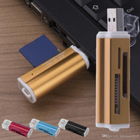 Hotsell USB 2.0 все в 1 Multi чтения карт памяти для T-флэш-MMC TF карты памяти Memory Stick