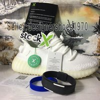 Designer shoes adidas yeezy boost 350 V2 men women 2019 v2 v3 Kanye West True Form Hyperspace Clay Hombres Mujeres Zapatos para correr con calcetín X Semi Frozen Amarillo Sesame