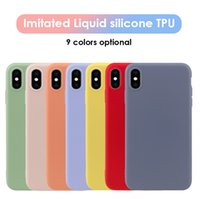 Soft TPU imitated liquid silicone iphone case for iPhone 6s ...