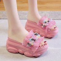 Thick bottom sandals and slippers female fairy style 2020 su...