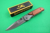 특별 제공 브라우닝 (338) (332) 포켓 접는 나이프 야외 캠핑 하이킹 작은 원래 종이 상자 팩 칼 나이프 접는