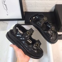 De marca zapatos negros de palo rejilla magia modelo blanco de mezclilla azul sandalias de plataforma de diseño de lujo zapatos de mujer de tamaño 35 a 40