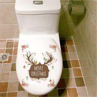 Etiquetas engomadas de la pared del reno encantador de la Feliz Navidad desprendible Etiquetas engomadas de la ventana de la tienda