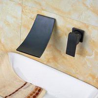 Oil Rubbed Bronze Waterfall Basin Faucet Wall Mounted Single...