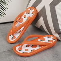 Mode confortable femmes Sandales peep toes fruits Cartoon été sandale de plage multicolore plat de Damping Chaussures femmes antidérapantes