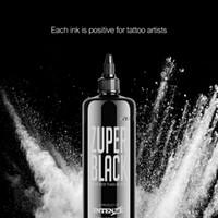 Premium Zuper tatuaggio nero 12 oz 360ml / inchiostro del tatuaggio professionale flacone nero non tossico