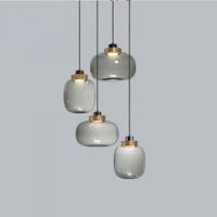 현대 디자이너 유리 펜던트 램프 다 이닝 룸 침실 침대 옆에 라이트 바 카페 레스토랑 유리 전등 펜던트 빛