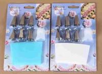 Sugerencias para la decoración de silicona formación de hielo de crema pastelera tuberías Bag + 6xStainless acero Tobera de bricolaje Conjunto de la torta nuevo llegan