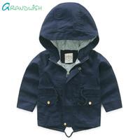 Grandwish Весна твердые пальто с капюшоном для мальчиков детский ветрозащитный хлопок Outerwaer дети с длинным рукавом осень куртка 3T-10T, SC831