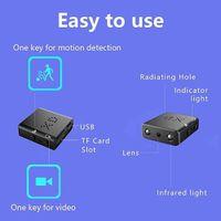 XD IR-Cut مصغرة كاميرات أصغر 1080P كامل كاميرات الفيديو عالية الدقة الأشعة تحت الحمراء للرؤية الليلية مايكرو كام كشف الحركة DV