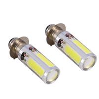 2X6000K Branco H6M LED COB Motor Bike / ATV Farol de iluminação da lâmpada de bulbo PX15d P15D25-1 COB Lâmpadas Acessórios Universal
