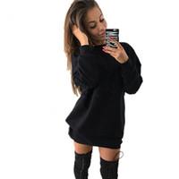Пот Женщины Осень Зима Женщины Толстовки Кофты Повседневная С Длинным Рукавом Пуловеры Негабаритные Толстовка Толстовка Платье 2020