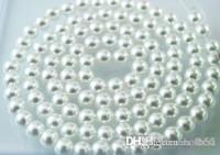جديد 1000PCS / الكثير بيضاء اللؤلؤ 8MM تقليد فضفاض حبة بيضاء الاكريليك حبات اللؤلؤ DIY الراتنج الساخن فاصل للمجوهرات F294w W62 x82