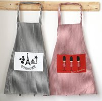 cucina a strisce grembiuli da cucina per donna uomo biancheria di cotone cuoco cameriere caffetteria negozio barbiere grembiule regolabile