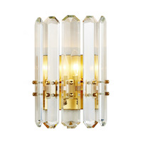 Delin Arandela de Ouro Iluminação AC90-260V Moderna Cristalina Lâmpada de Parede Quarto Sala de estar Luminárias LED