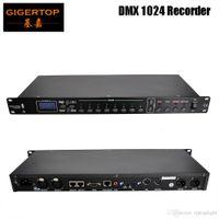 Gigertop TP-D1369 1024 DMX Recorder US / EU / AU-Stromkabel Mikrofonaufnahme, AV-Audio-Eingang, RJ45 oder RS232 Connect-Steuerung