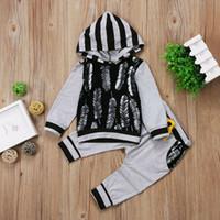 Nouveau-né Infant Kid Bébé Garçon Vêtements Tops Hoodies T-shirt + Ensemble Pantalon