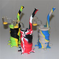 Silicone Glass Water Bongs Colored Silicone Bongs Water Pipe...