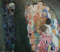 Death and life by Gustav Klimt Home Wall Art Decor Handpaint...