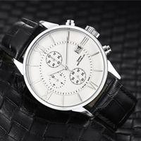 relógios suíços para homens movimento de quartzo de luxo todos cronógrafo trabalho de marcação pulseira de couro relógio de designer t061 relógio ocasional impermeável para homens