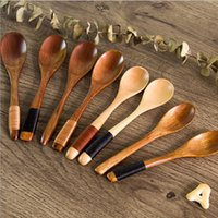 Mini Wooden Spoons for Kitchen Using Condiment Jam Spoon Cof...