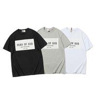 Il timore di Dio NEBBIA del progettista di marca superiore delle donne degli uomini di qualità T-shirt di moda della stampa Tees manica corta 899