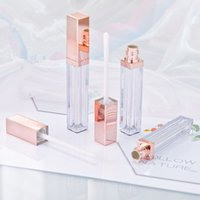 4 ML Yüksek Sınıf Gül Altın Dudak Parlatıcısı Şişe Plastik Boş Kozmetik Dudak Yağı Doldurulabilir Tüp Sıvı Ruj Depolama Şişe