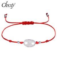 CHSXY 2020 Nariz New Original Micro pavimentada CZ Pig charme pulseira sorte vermelha cadeia pulseiras para os bebés Cubic Zirconia jóias