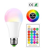 E27 B22 16 تغيير لون RGB ماجيك بقيادة مصباح 3/5 / 10W 85-265V RGB بقيادة مصباح الضوء + IR التحكم عن بعد LED لمبات