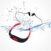 Impermeabile 4/8 / 16GB Immersione subacquea MP3 bluetooth player IPX8 Impermeabile Sport subacqueo MP3 Lettore musicale con archetto da collo Radio stereo auricolare