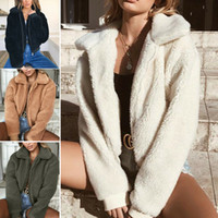 Femmes Mode Femmes Manteau d'hiver Fluffy Shaggy en fausse fourrure manteau chaud Gilet Veste Lady Casual Vente Outwear
