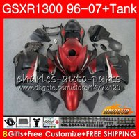 Kit para SUZUKI GSXR-1300 GSXR1300 Hayabusa 96 97 rojo vivo mate 98 99 00 01 07 24HC.50 GSXR 1300 1996 1997 1998 1999 2000 2001 2007 Carenados