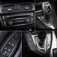 Karbon Elyaf İçin BMW 1 2 Serisi F20 F21 F22 F23 İç Vites Klima CD Panel Kapı Kolçak Kapak Trim Araç Plakası Aksesuarları
