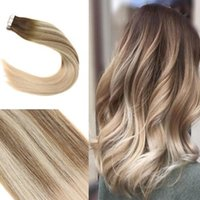 Balayage Tape in Hair Extensions Brown with Blonde #4 14 60