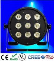 CREE 9x12W 4in1 RGBW führte flache SlimPar-Viererkabeldose des Stadiums-Licht-LED mit DMX512 flacher DJ-Ausrüstungs-Controller
